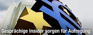 Eurozeichen vor der Europäischen Zentralbank (EZB) in Frankfurt