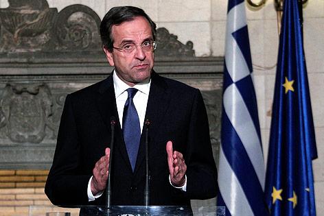 Der griechische Premier Antonis Samaras