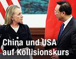 US-Außenministerin Hillary Clinton und der chinesische Außenminister Yang Jiechi