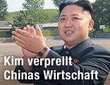 Kim Jong Un klatscht in die Hände