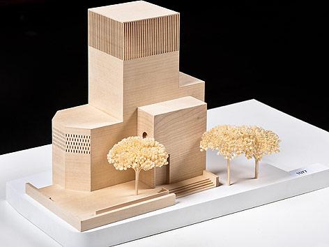 Modell des neuen Bet und Lehrhaus in Berlin