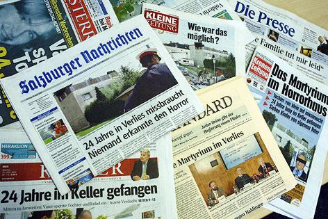 Zeitungsberichte über den Fall Fritzl