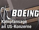 Logo und Schriftzug von Boeing