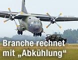 Eine C-160 'Transall' Maschine der Bundeswehr