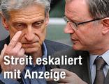 SPÖ-Klubobmann Josef Cap und ÖVP-Klubobmann Karlheinz Kopf
