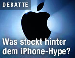 Apple-Logo auf einer Videowand