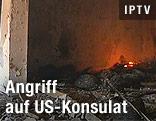 Ausgebrannte US-Botschaft