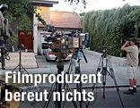 Fernsehkameras vor dem Haus des mutmaßlichen Produzenten des Mohammed-Films