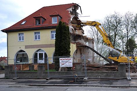 Zerstörtes Haus der Zwickauer Neonazi-Zelle