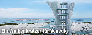 Modellansicht des Pierre Cardin Towers in Venedig
