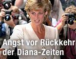 Prinzessin Diana vor Fotografen