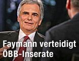 SPÖ-Bundeskanzler Werner Faymann im ORF-Sommergespräch mit Armin Wolf