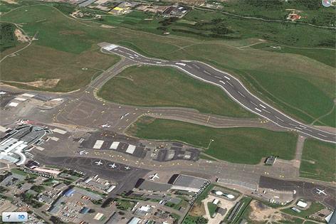 Der Flughafen Litauens liegt auf Hügeligem Terrain