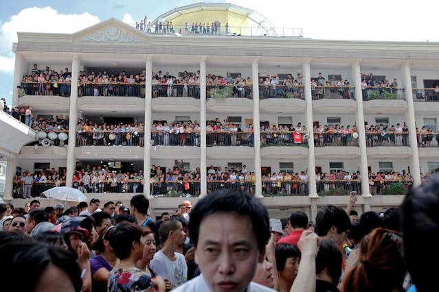 Besetztes Regierungsgebäude in Qidong