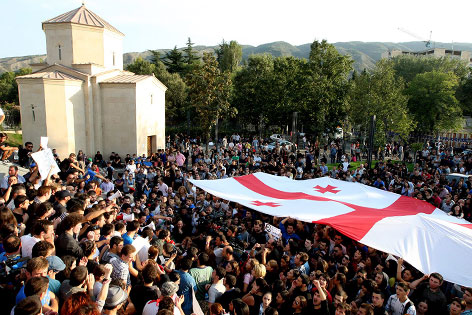 Demonstration in Georgien