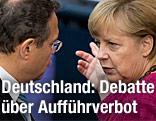 Bundeskanzlerin Angela Merkel (CDU) und Bundesinnenminister Hans-Peter Friedrich (CSU)