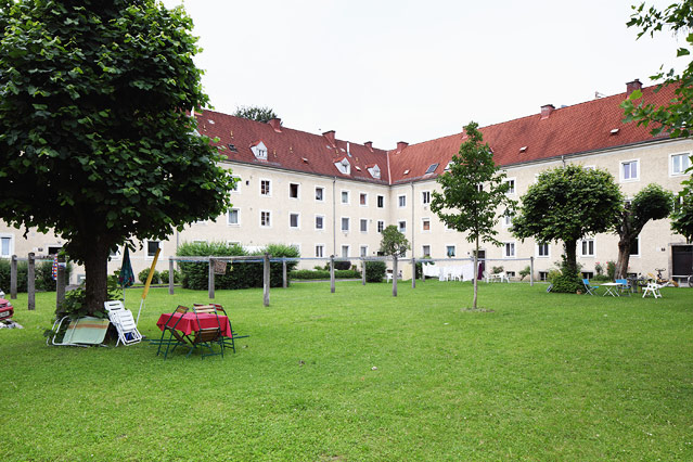 Harbachsiedlung, Innenhof, 2012