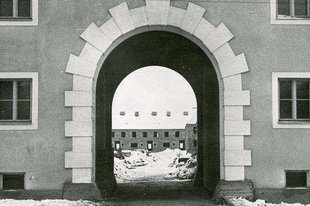 Spallerhofsiedlung im Bau, Linz, Dezember 1939