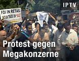 Demonstration in Indien