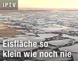 Eisfläche in der Arktis