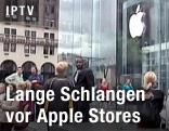 Menschen vor dem Apple Store in New York