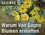"""Ausschnitt aus Vincent Van Goghs """"Blumen in blauer Vase"""""""