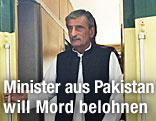 Der pakistanische Eisenbahnminister Ghulam Ahmed Bilour