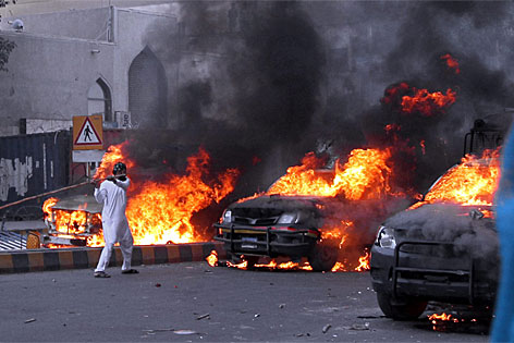 Proteste in Karachi, Pakistan