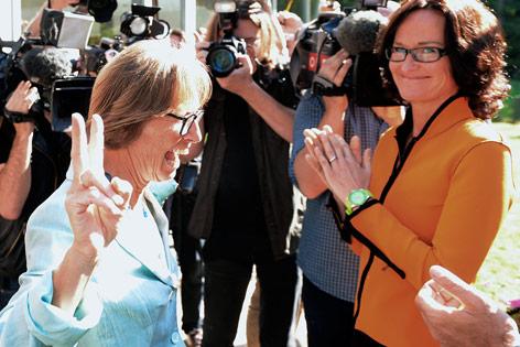 Gabriela Moser und Eva Glawischnig