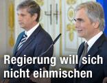 Bundeskanlzer Werner Faymann und Vizekanzler Michael Spindelegger