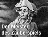 """Raimund als """"Tobias"""" in """"Das Gespenst auf der Bastei"""" 1819"""