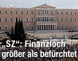 Ansicht des griechischen Parlaments in Athen