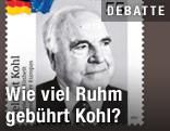 Briefmarke mit Helmut Kohl
