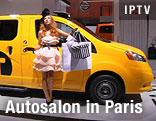 Ausgestelltes Auto mit Modell