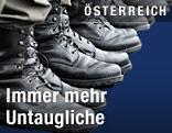 Stiefeln von Rekruten des österreichischen Bundesheeres