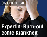 Frau mit Burn-out