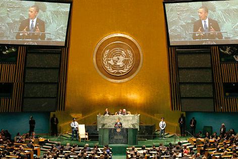 US-Präsident Barack Obama spricht vor der Generalversammlung der Vereinten Nationen