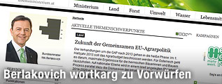 Screenshot www.lebensministerium.at