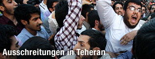 Demonstranten in Teheran