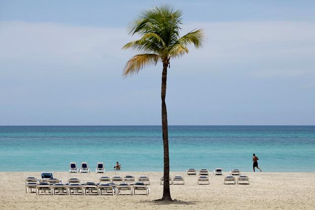 Strand eines Luxushotels
