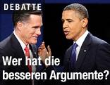 Amtierender US-Präsident Obama und Präsidentschaftskandidat Romney
