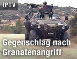 Türkischer Soldat in einem Panzer