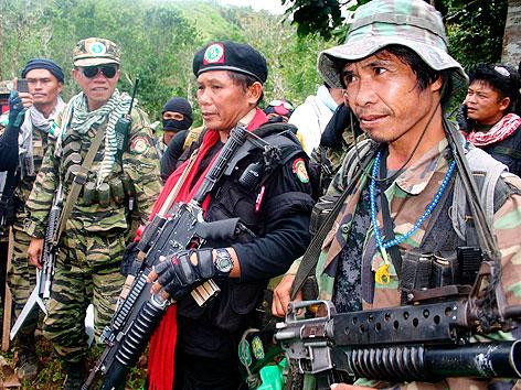 Abdurahman Macapaar der philippinischen Rebellen,  Moro Islamic Liberation Front (MILF)