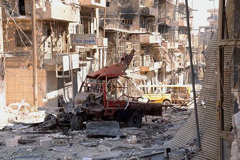 ZerstörteHäuser im Viertel Al-Arqoub