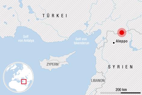 Karte der Grenzregion