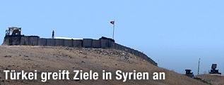 Türkische Militärstation an der Grenze zu Syrien