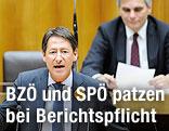 Kanzler Werner Faymann und BZÖ-Chef Josef Bucher