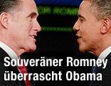 US-Präsident Barack Obama und Herausforderer Mitt Romney