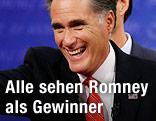 Mitt Romney winkt ind Publikum