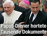 Papst Benedict XVI. und sein Diener Paolo Gabriele